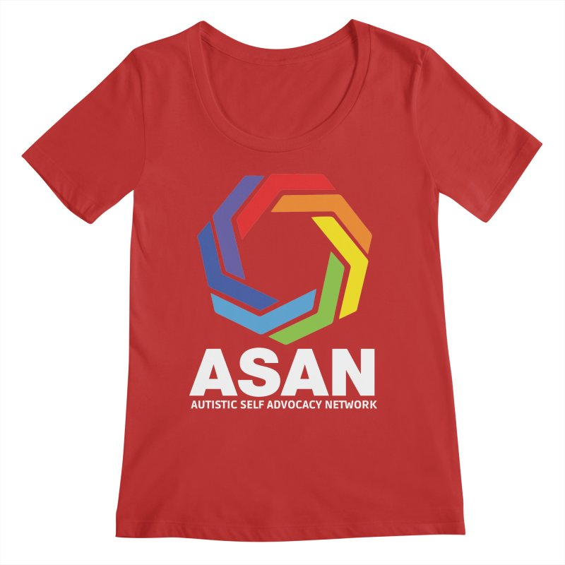 Vertical Logo (Dark) Women's Regular Scoop Neck by Autistic Self Advocacy Network Shop