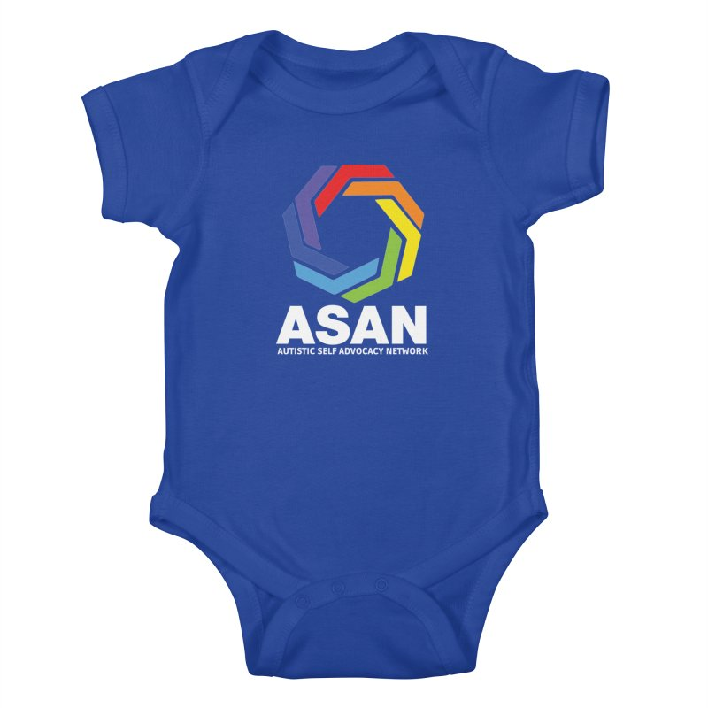 Vertical Logo (Dark) Kids Baby Bodysuit by Autistic Self Advocacy Network Shop