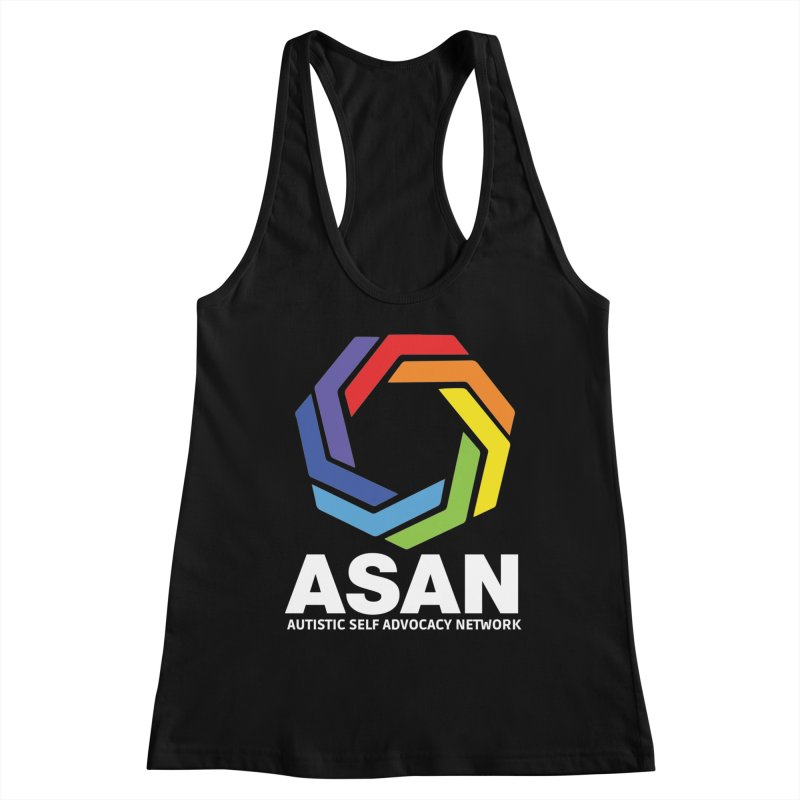 Vertical Logo (Dark) Women's Racerback Tank by Autistic Self Advocacy Network Shop