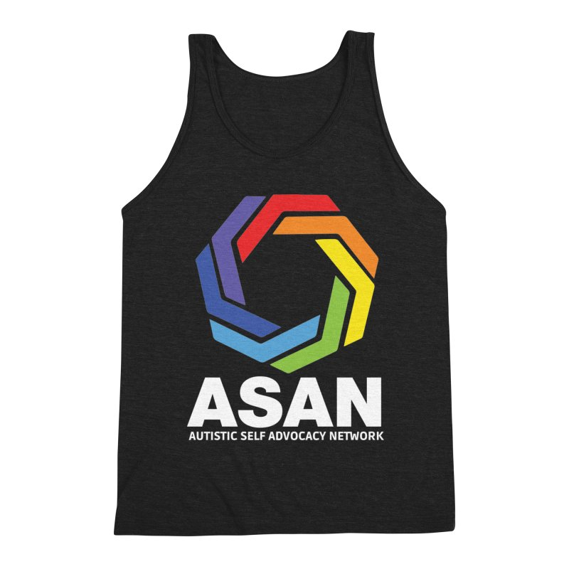 Vertical Logo (Dark) Men's Triblend Tank by Autistic Self Advocacy Network Shop