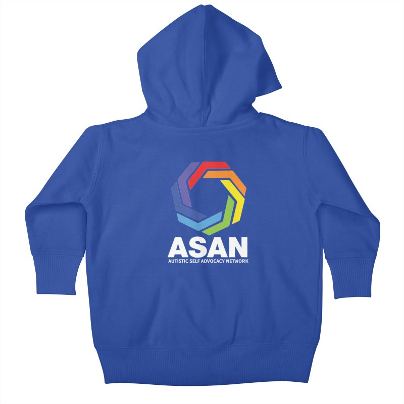 Vertical Logo (Dark) Kids Baby Zip-Up Hoody by Autistic Self Advocacy Network Shop