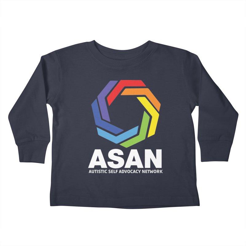 Vertical Logo (Dark) Kids Toddler Longsleeve T-Shirt by Autistic Self Advocacy Network Shop