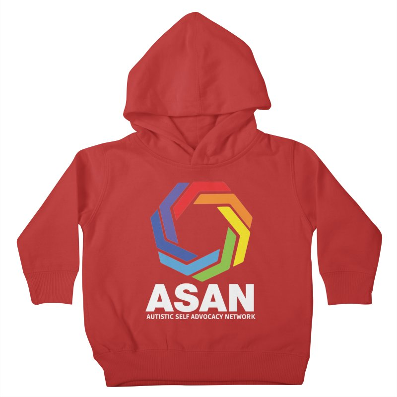 Vertical Logo (Dark) Kids Toddler Pullover Hoody by Autistic Self Advocacy Network Shop