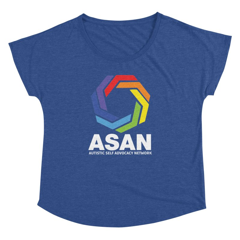Vertical Logo (Dark) Women's Dolman Scoop Neck by Autistic Self Advocacy Network Shop