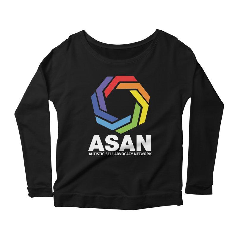 Vertical Logo (Dark) Women's Scoop Neck Longsleeve T-Shirt by Autistic Self Advocacy Network Shop