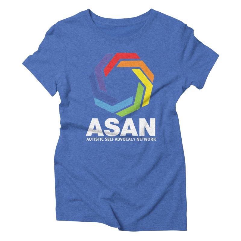 Vertical Logo (Dark) Women's Triblend T-Shirt by Autistic Self Advocacy Network Shop