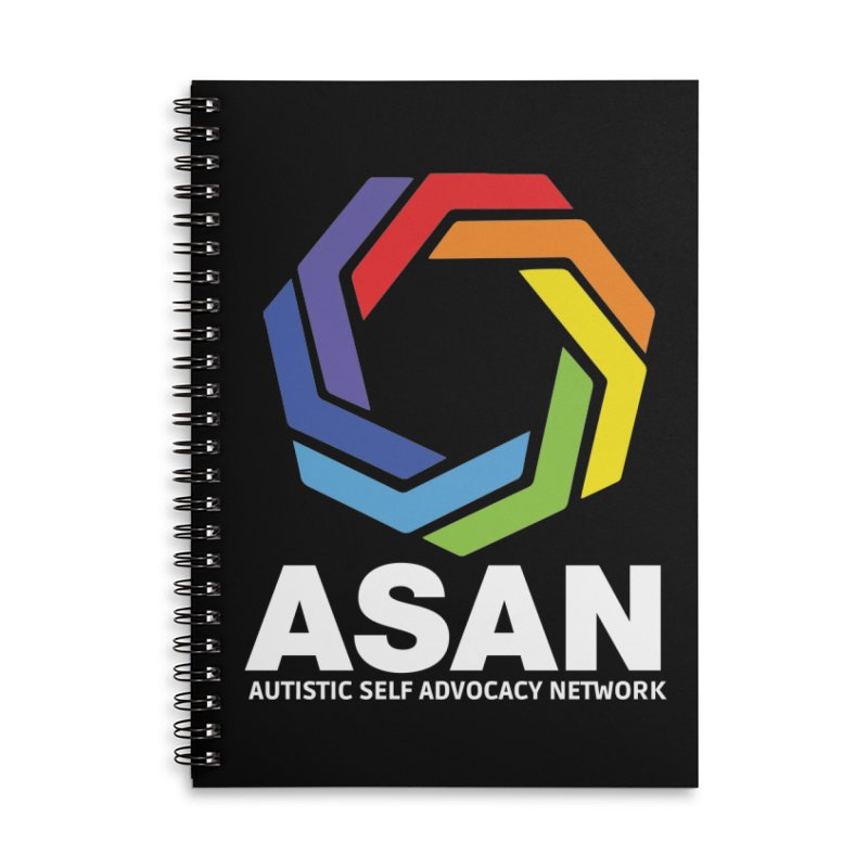 Vertical Logo (Dark) Accessories Lined Spiral Notebook by Autistic Self Advocacy Network Shop