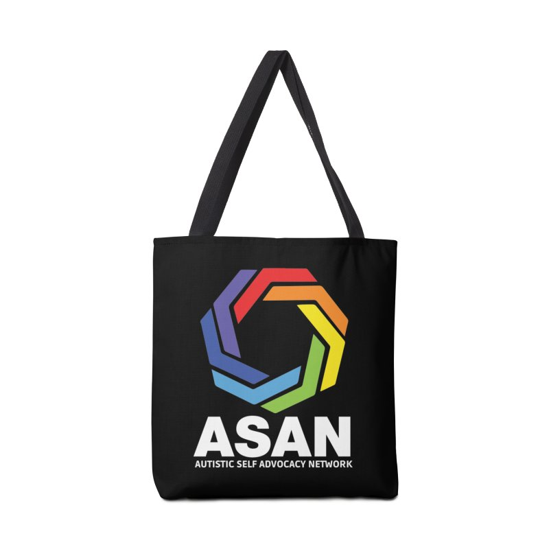 Vertical Logo (Dark) Accessories Tote Bag Bag by Autistic Self Advocacy Network Shop