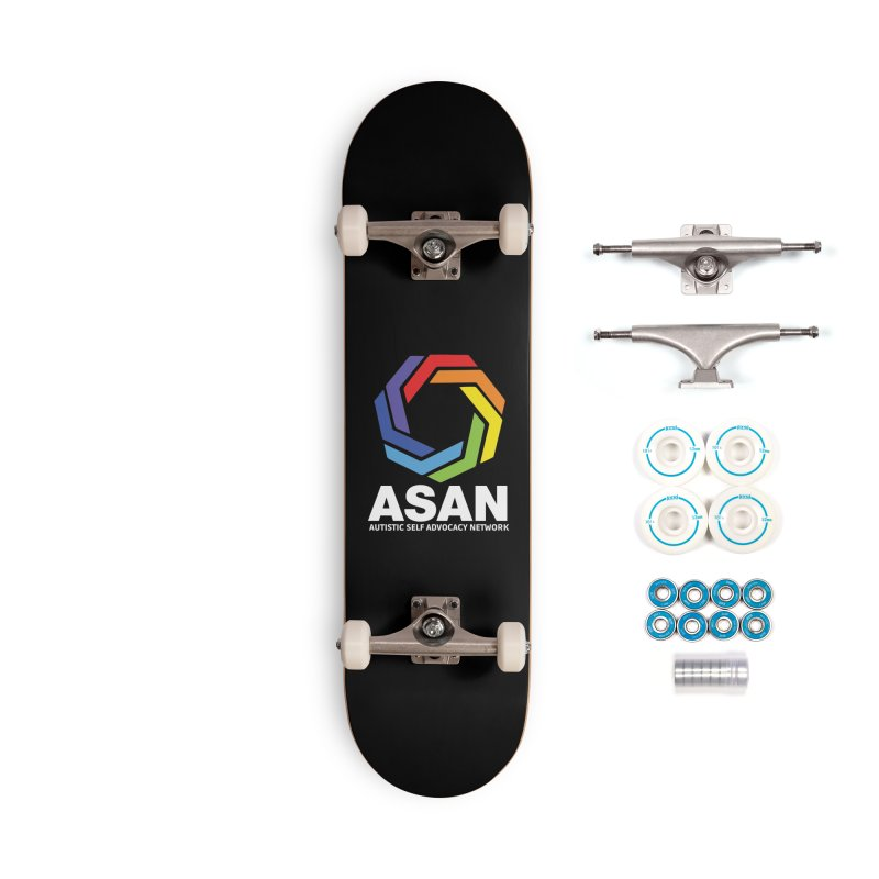 Vertical Logo (Dark) Accessories Complete - Basic Skateboard by Autistic Self Advocacy Network Shop
