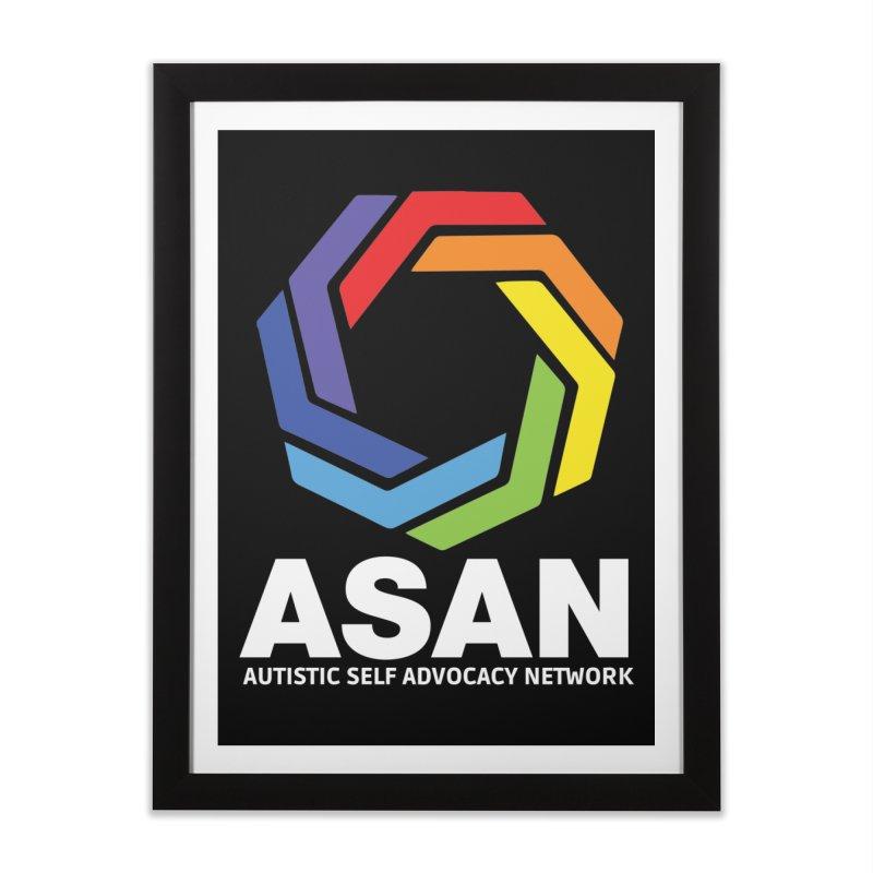 Vertical Logo (Dark) Home Framed Fine Art Print by Autistic Self Advocacy Network Shop
