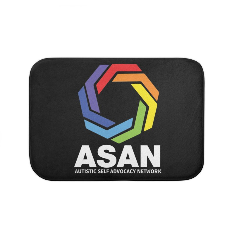 Vertical Logo (Dark) Home Bath Mat by Autistic Self Advocacy Network Shop