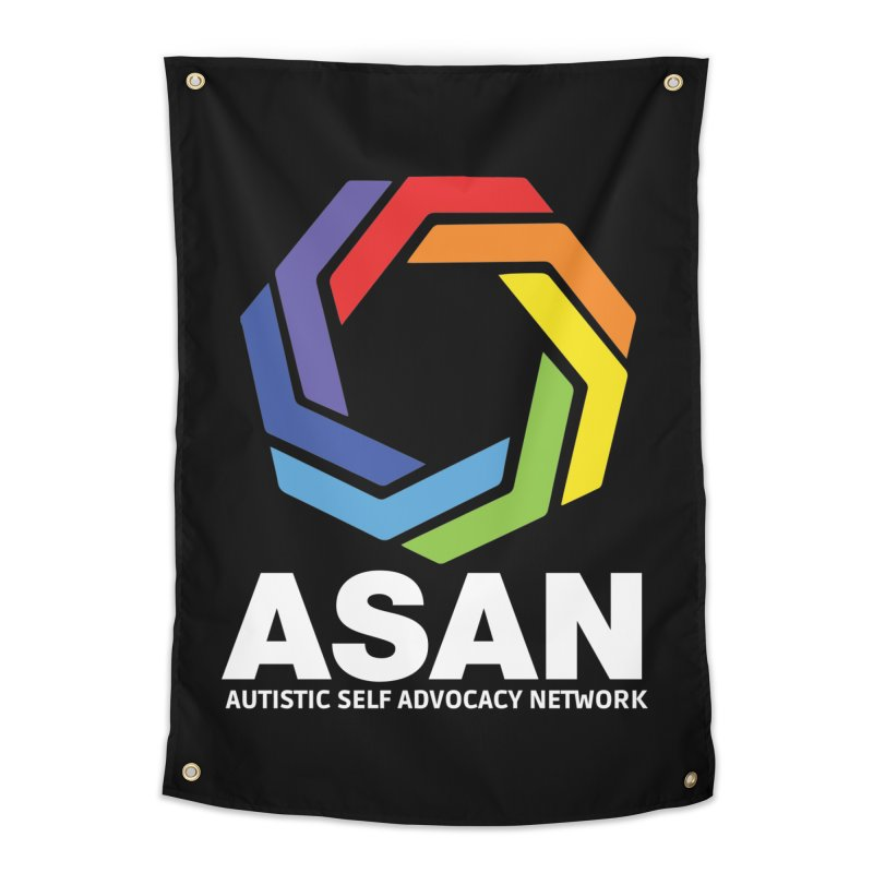 Vertical Logo (Dark) Home Tapestry by Autistic Self Advocacy Network Shop