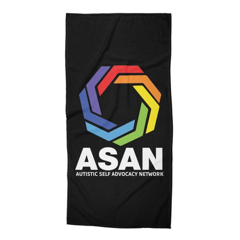 Vertical Logo (Dark) Accessories Beach Towel by Autistic Self Advocacy Network Shop