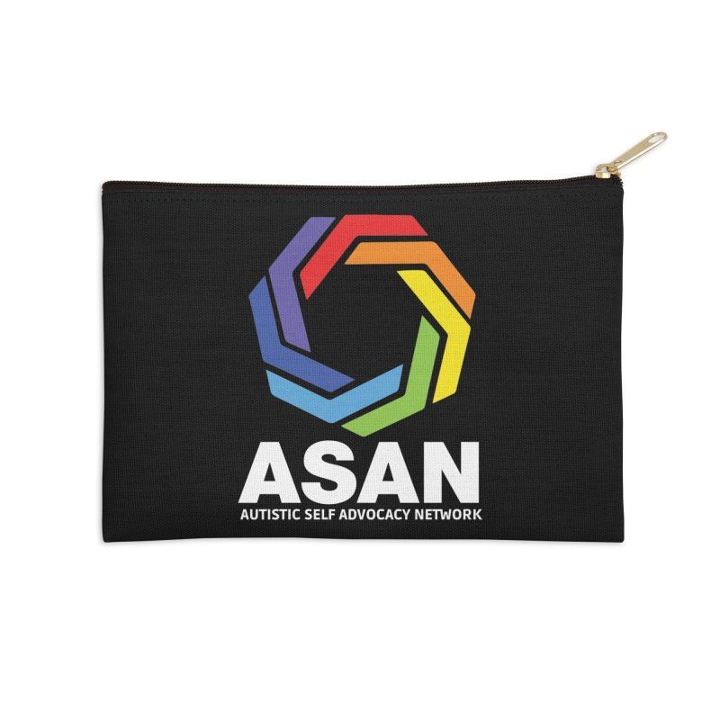 Vertical Logo (Dark) Accessories Zip Pouch by Autistic Self Advocacy Network Shop