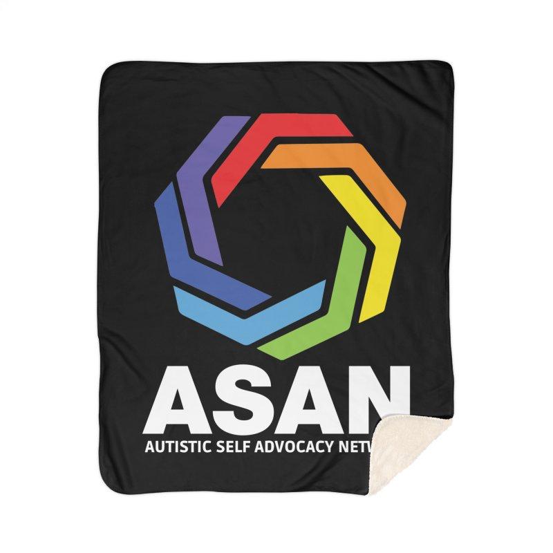 Vertical Logo (Dark) Home Sherpa Blanket Blanket by Autistic Self Advocacy Network Shop