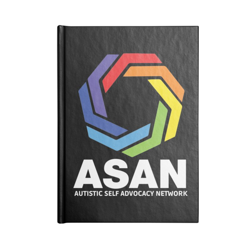 Vertical Logo (Dark) Accessories Lined Journal Notebook by Autistic Self Advocacy Network Shop