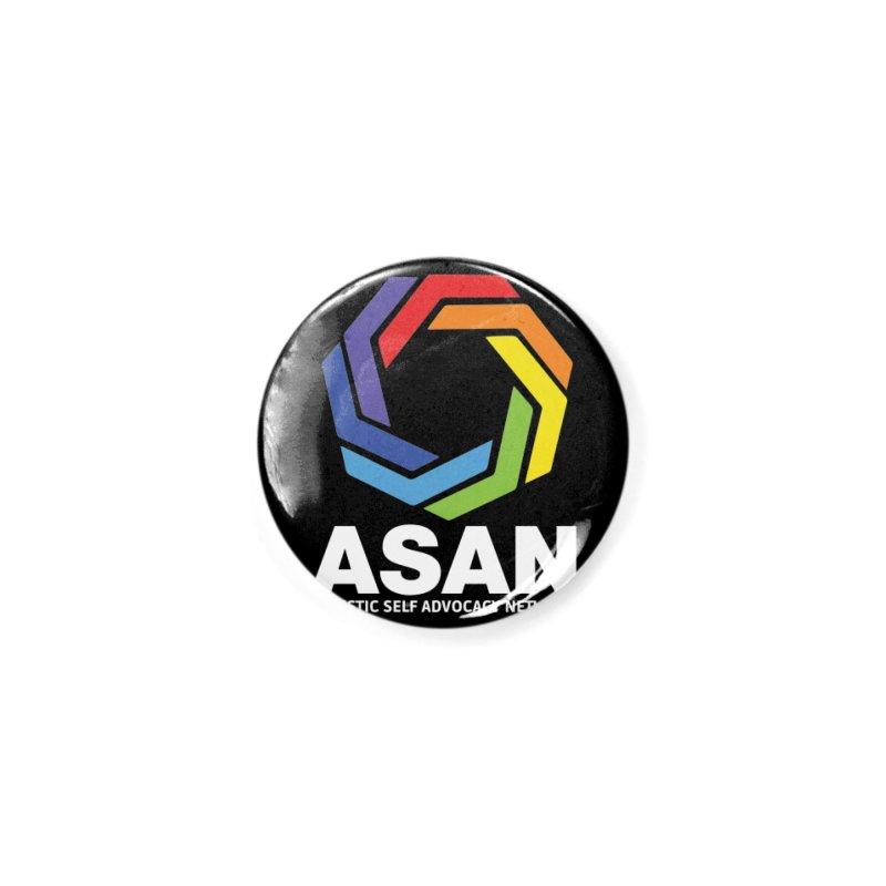 Vertical Logo (Dark) Accessories Button by Autistic Self Advocacy Network Shop