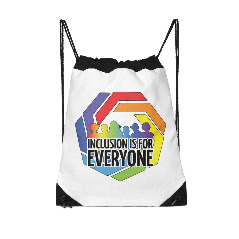 Inclusion is for Everyone Accessories Drawstring Bag Bag by Autistic Self Advocacy Network Shop