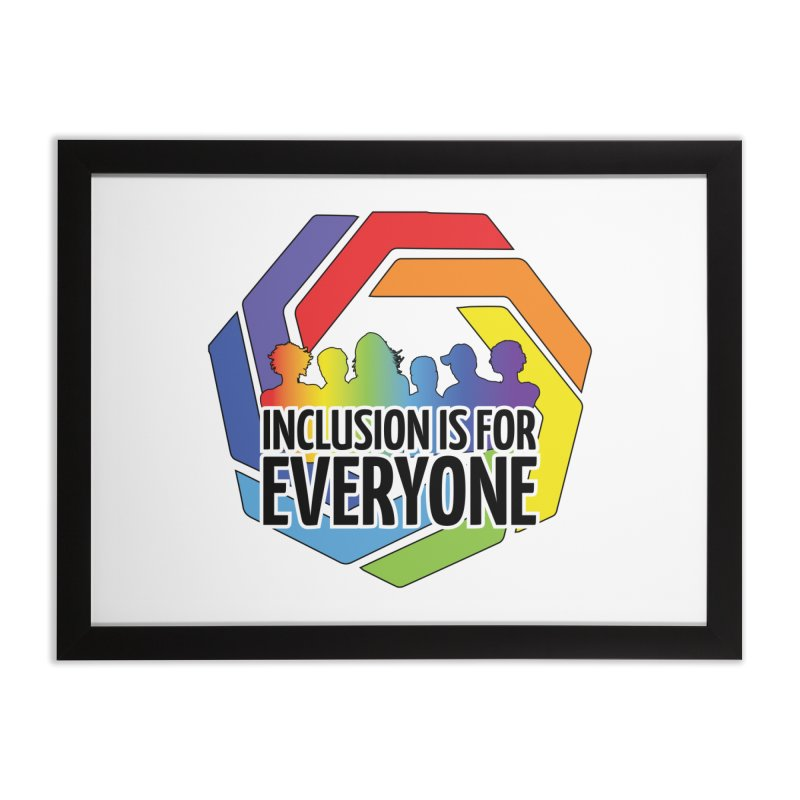 Inclusion is for Everyone Home Framed Fine Art Print by Autistic Self Advocacy Network Shop