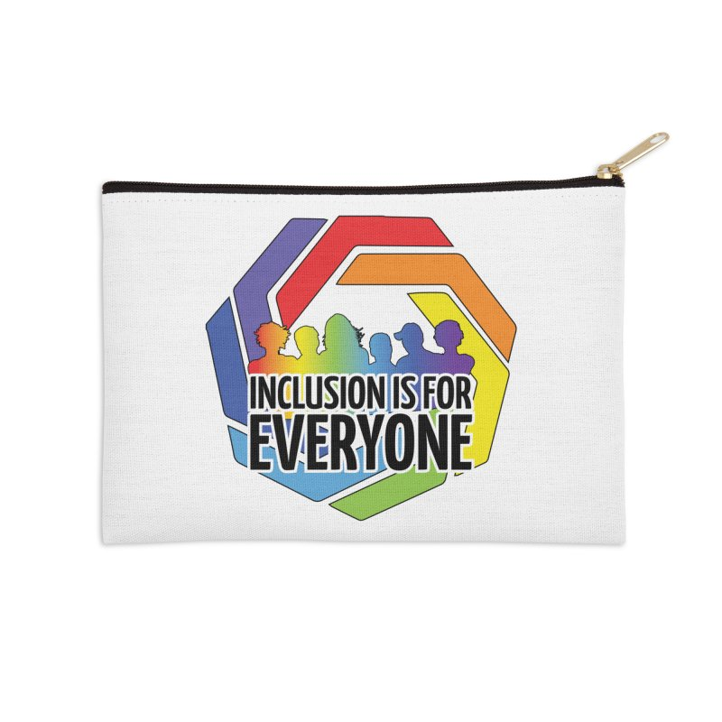Inclusion is for Everyone Accessories Zip Pouch by Autistic Self Advocacy Network Shop