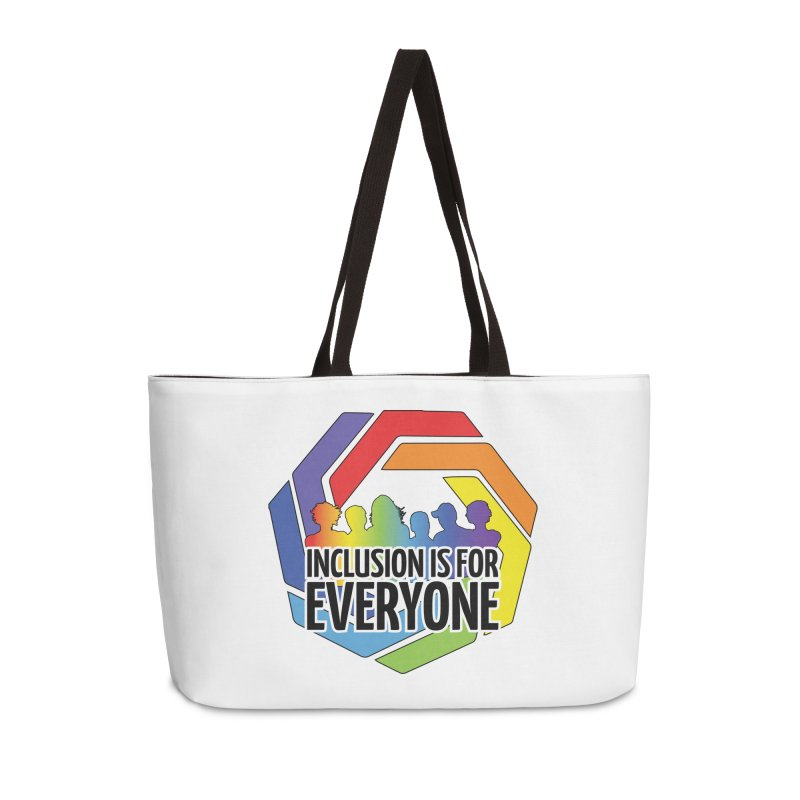 Inclusion is for Everyone Accessories Weekender Bag Bag by Autistic Self Advocacy Network Shop