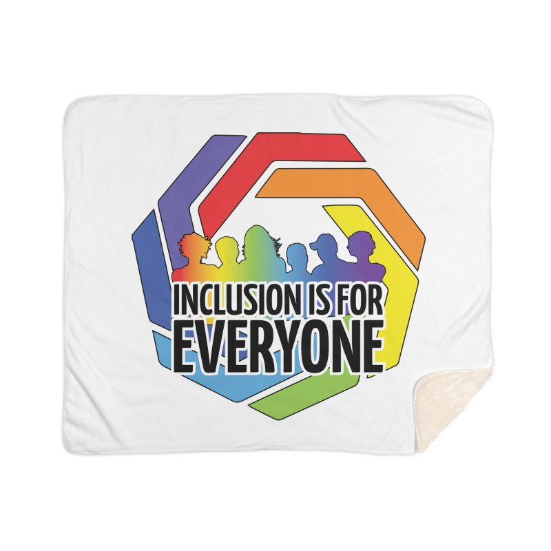 Inclusion is for Everyone Home Sherpa Blanket Blanket by Autistic Self Advocacy Network Shop
