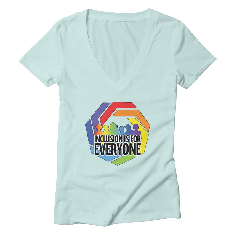 Inclusion is for Everyone Women's Deep V-Neck V-Neck by Autistic Self Advocacy Network Shop