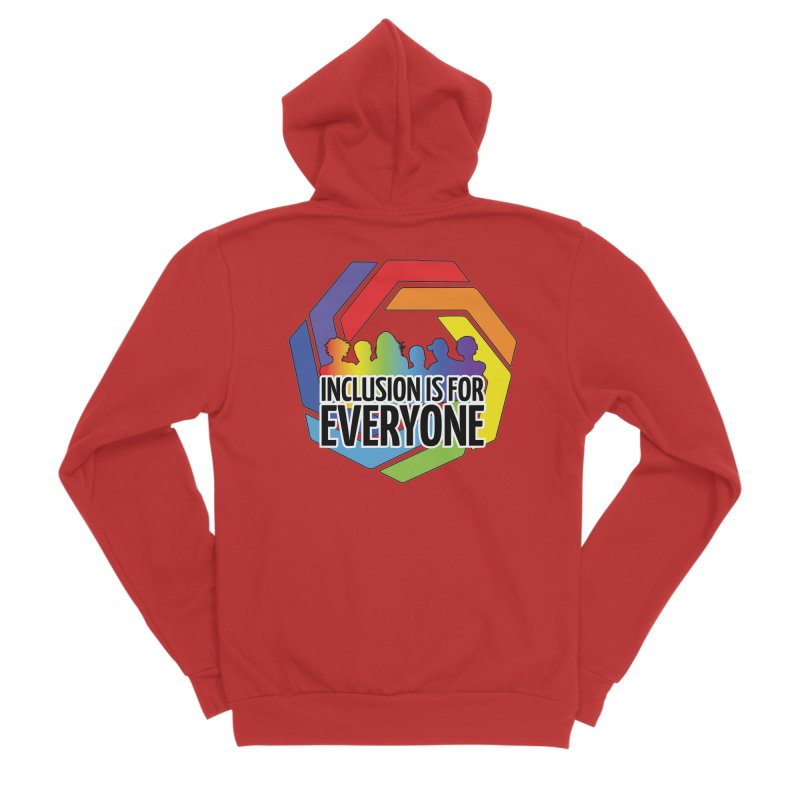 Inclusion is for Everyone Women's Sponge Fleece Zip-Up Hoody by Autistic Self Advocacy Network Shop