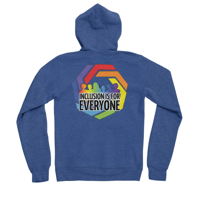 Inclusion is for Everyone Men's Sponge Fleece Zip-Up Hoody by Autistic Self Advocacy Network Shop