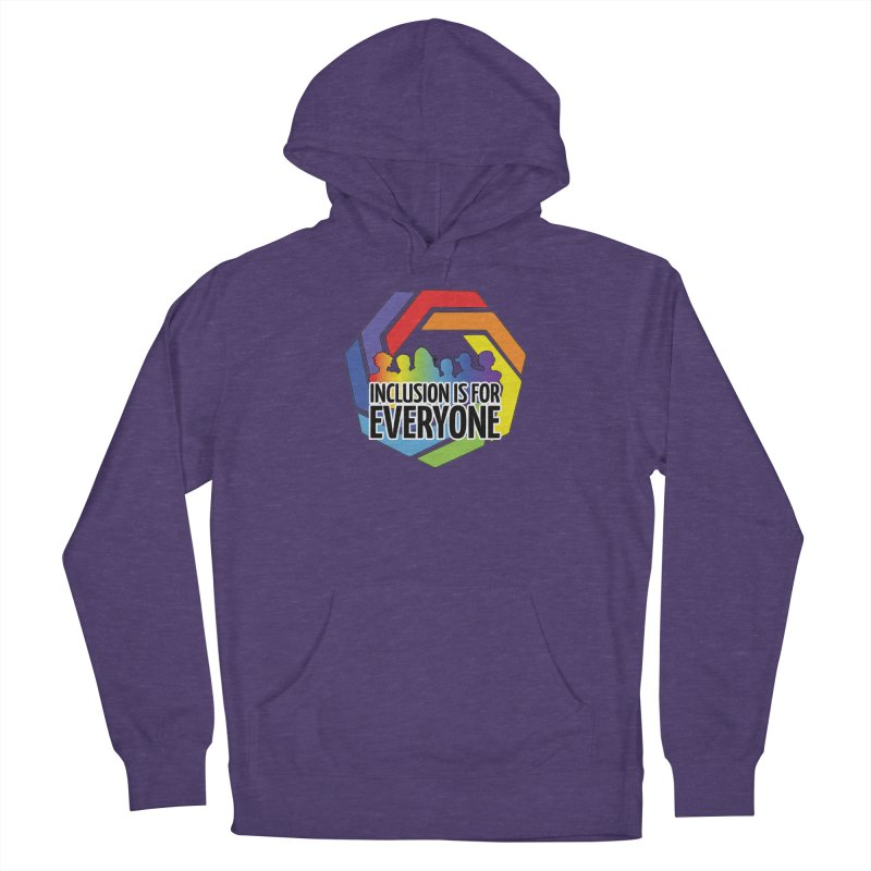 Inclusion is for Everyone Men's French Terry Pullover Hoody by Autistic Self Advocacy Network Shop