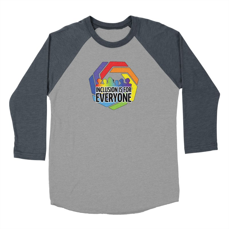 Inclusion is for Everyone Men's Baseball Triblend Longsleeve T-Shirt by Autistic Self Advocacy Network Shop
