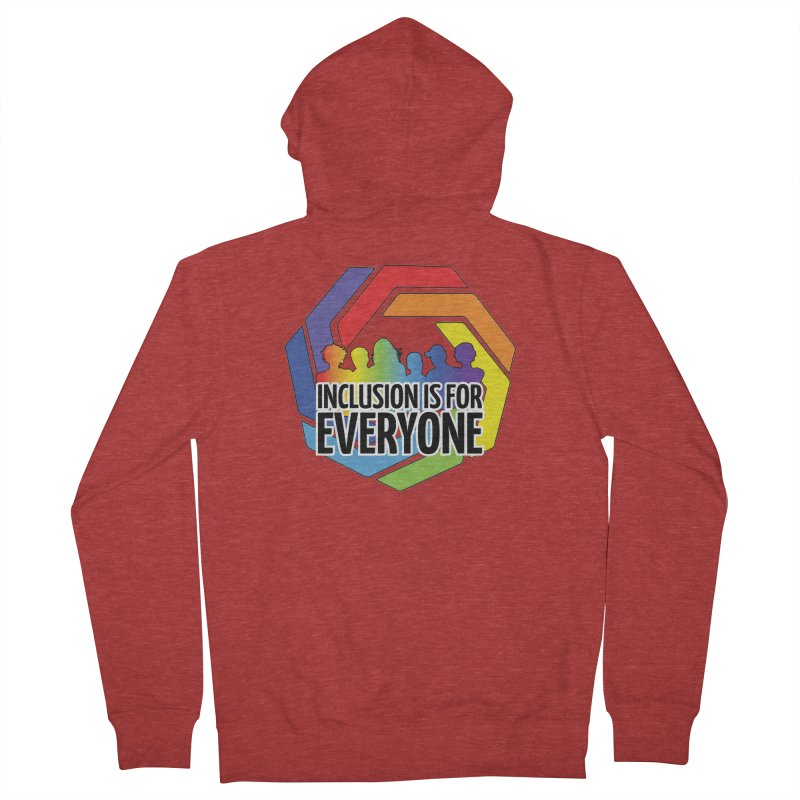 Inclusion is for Everyone Men's French Terry Zip-Up Hoody by Autistic Self Advocacy Network Shop