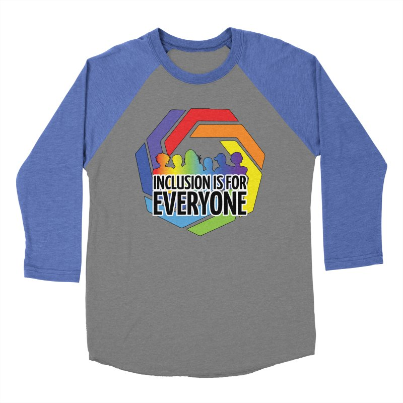 Inclusion is for Everyone Women's Baseball Triblend Longsleeve T-Shirt by Autistic Self Advocacy Network Shop