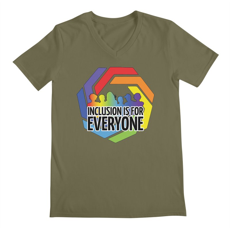 Inclusion is for Everyone Men's Regular V-Neck by Autistic Self Advocacy Network Shop