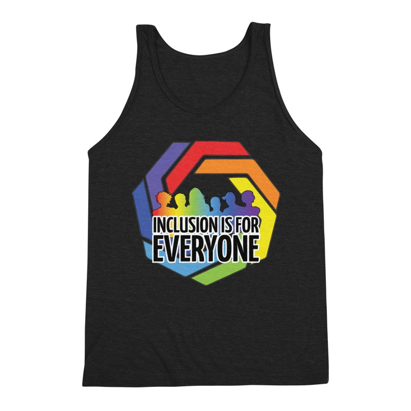 Inclusion is for Everyone Men's Triblend Tank by Autistic Self Advocacy Network Shop