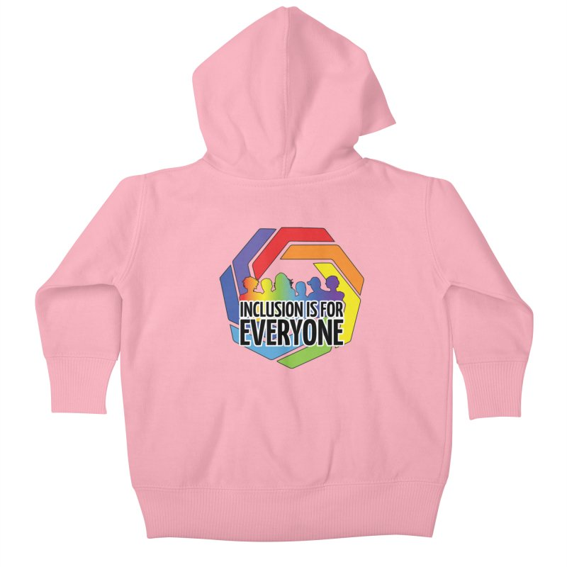 Inclusion is for Everyone Kids Baby Zip-Up Hoody by Autistic Self Advocacy Network Shop