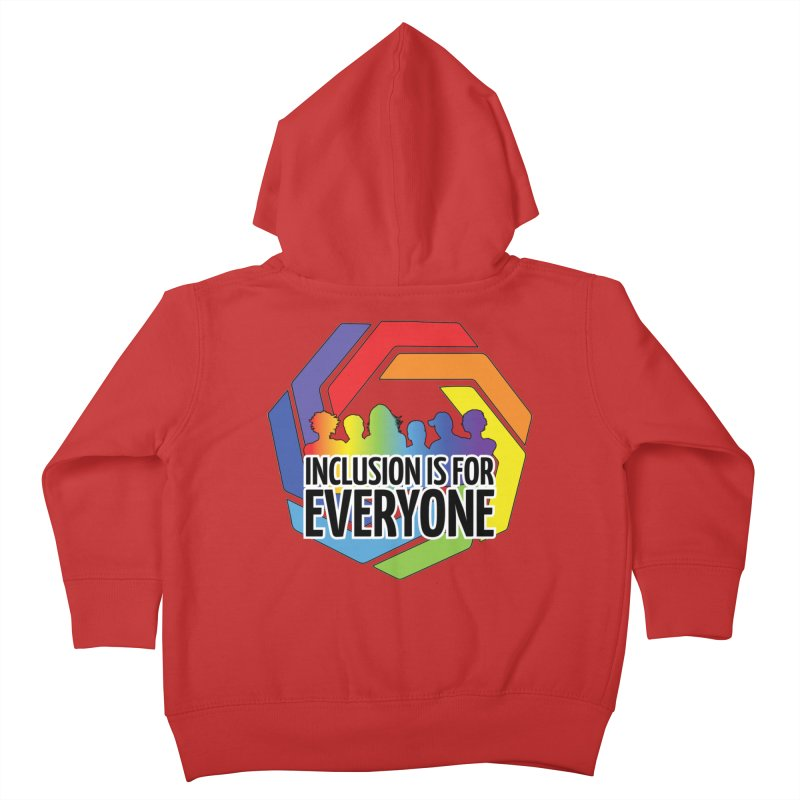 Inclusion is for Everyone Kids Toddler Zip-Up Hoody by Autistic Self Advocacy Network Shop