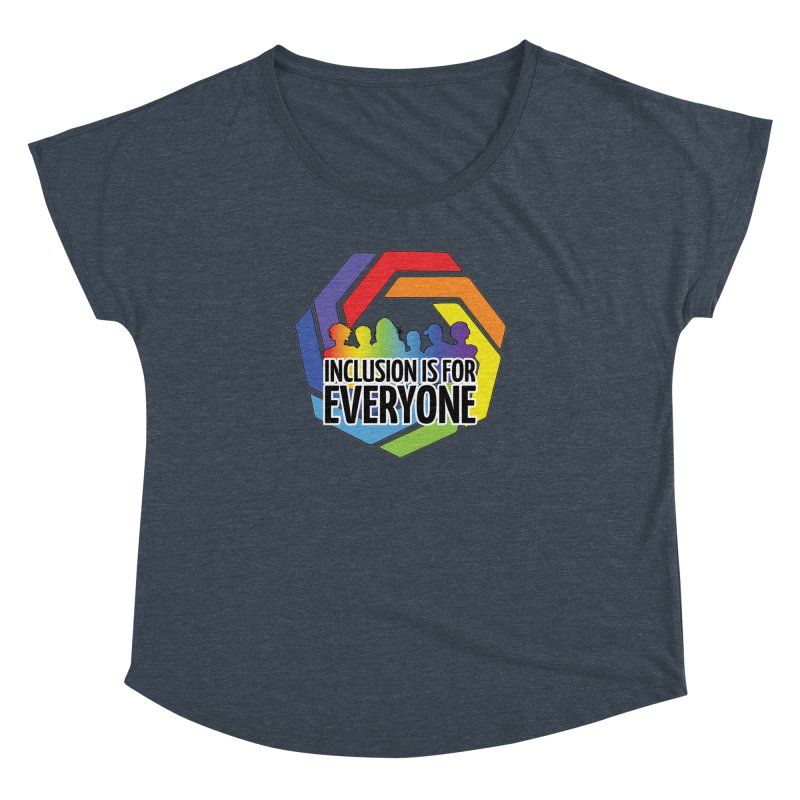 Inclusion is for Everyone Women's Dolman Scoop Neck by Autistic Self Advocacy Network Shop