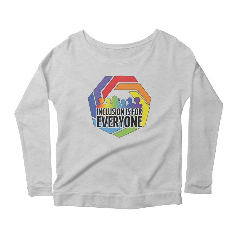 Inclusion is for Everyone Women's Scoop Neck Longsleeve T-Shirt by Autistic Self Advocacy Network Shop