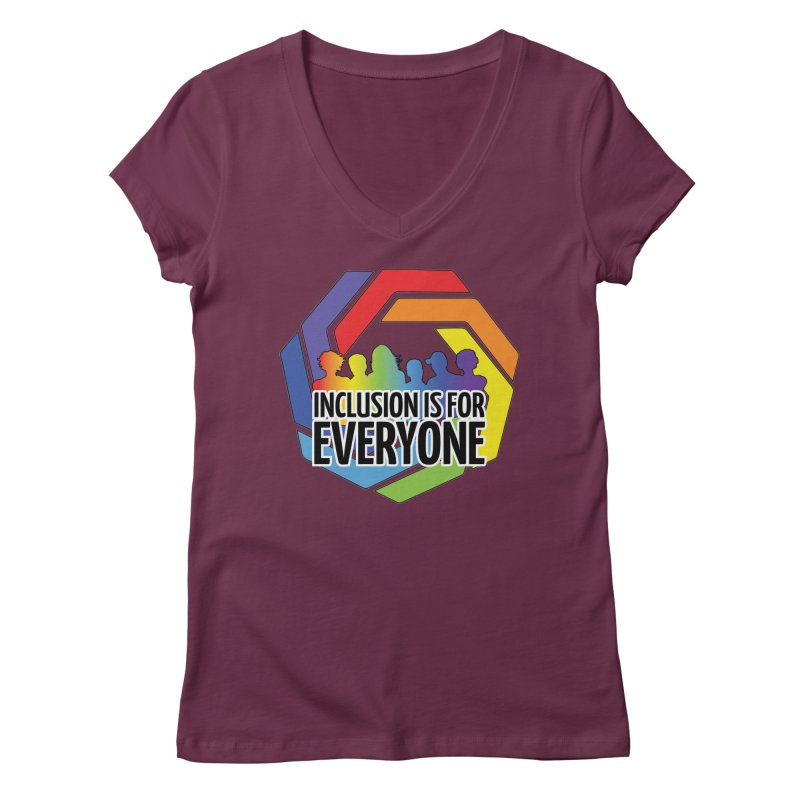 Inclusion is for Everyone Women's Regular V-Neck by Autistic Self Advocacy Network Shop