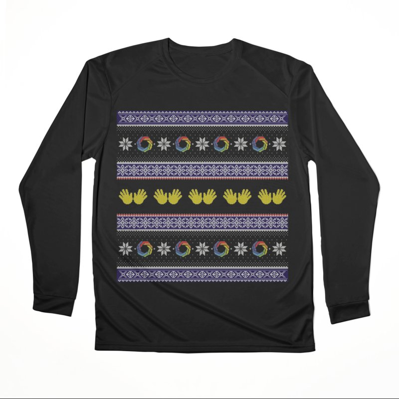 Flappy Holidays Sweater Women's Performance Unisex Longsleeve T-Shirt by Autistic Self Advocacy Network Shop