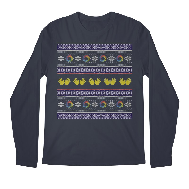 Flappy Holidays Sweater Men's Longsleeve T-Shirt by Autistic Self Advocacy Network Shop