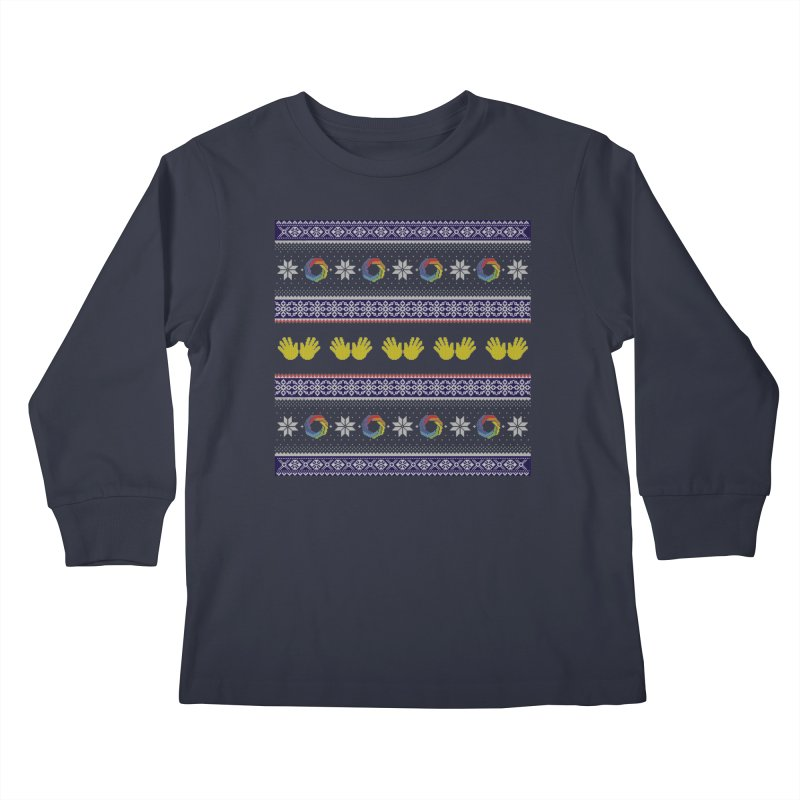 Flappy Holidays Sweater Kids Longsleeve T-Shirt by Autistic Self Advocacy Network Shop