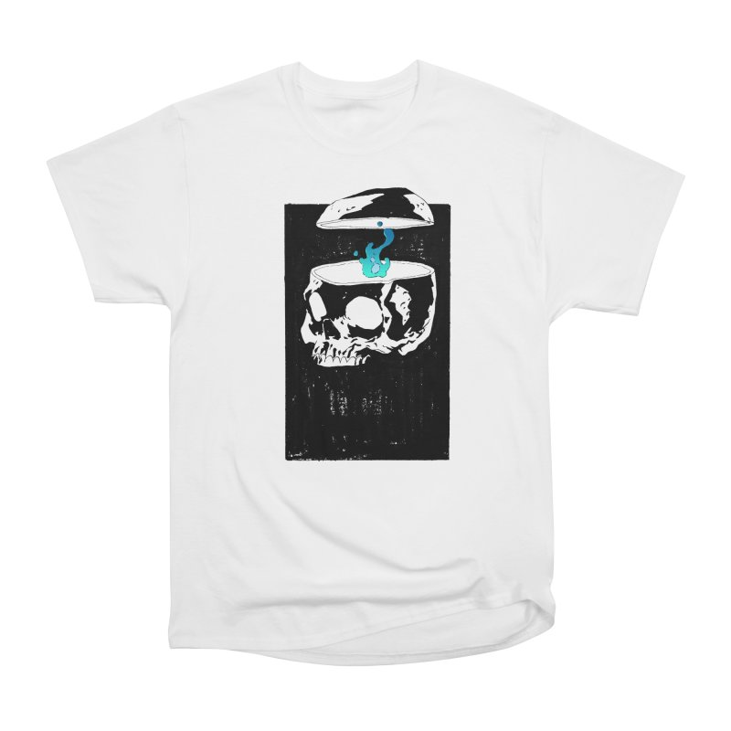 Cerebral Essence in Men's Heavyweight T-Shirt White by automaton's Artist Shop