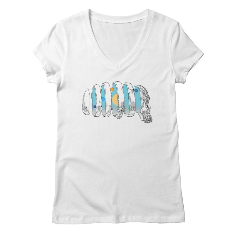 Cranial System Women's Regular V-Neck by automaton's Artist Shop