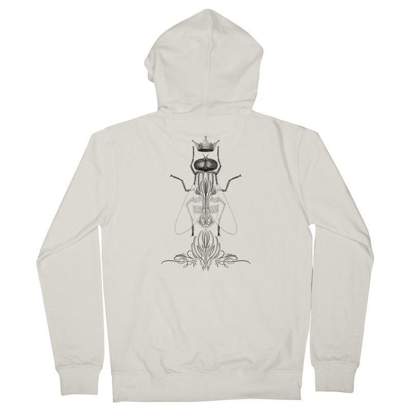 Carrion Queen Men's French Terry Zip-Up Hoody by automaton's Artist Shop