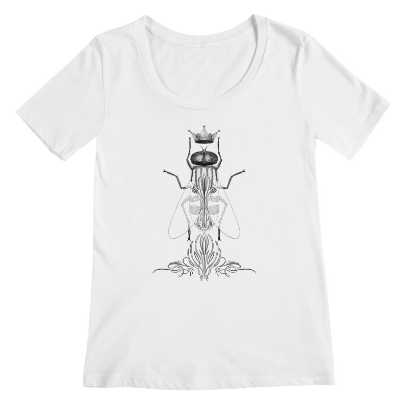 Carrion Queen Women's Regular Scoop Neck by automaton's Artist Shop