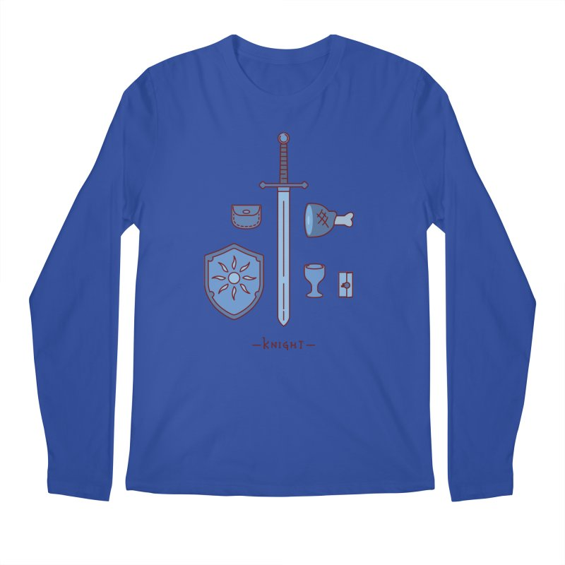 The Knight Men's Regular Longsleeve T-Shirt by automaton's Artist Shop