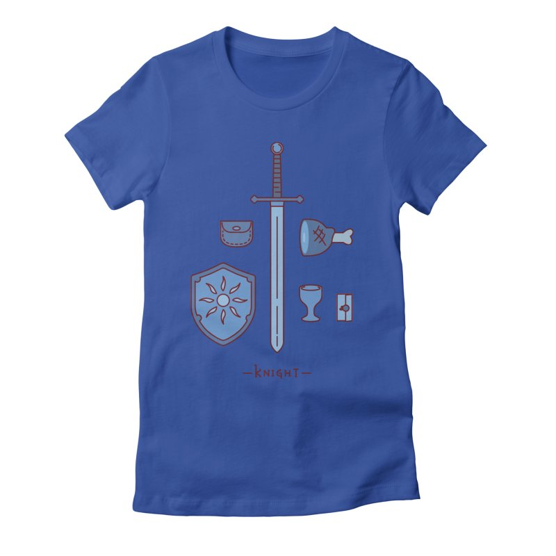 The Knight Women's Fitted T-Shirt by automaton's Artist Shop