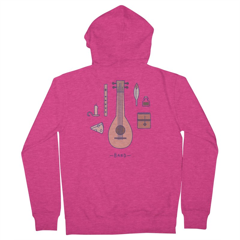 The Bard Women's French Terry Zip-Up Hoody by automaton's Artist Shop
